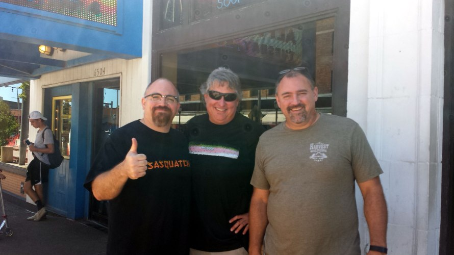 Me, Bill, and my brother Scott. We just finished scouring Vintage Vinyl and were heading to Blueberry Hill for a burger.