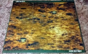 The war torn side of the board.