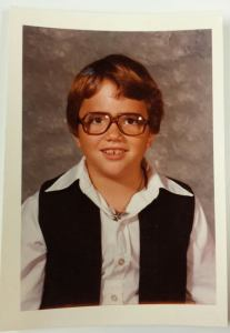 My mother sewed that sweet Han Solo outfit for me. No way it wasn't going to be worn on picture day, 1978